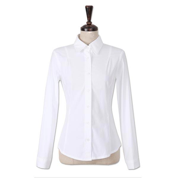 韩版原白色女衬衣正面图片