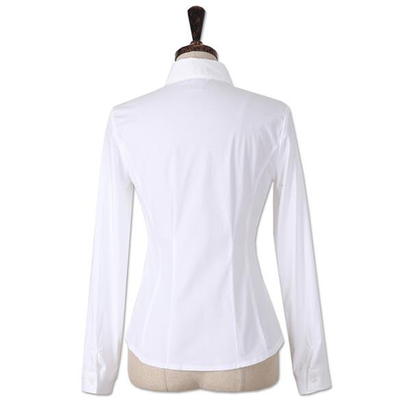 韩版原白色女衬衣背面图片