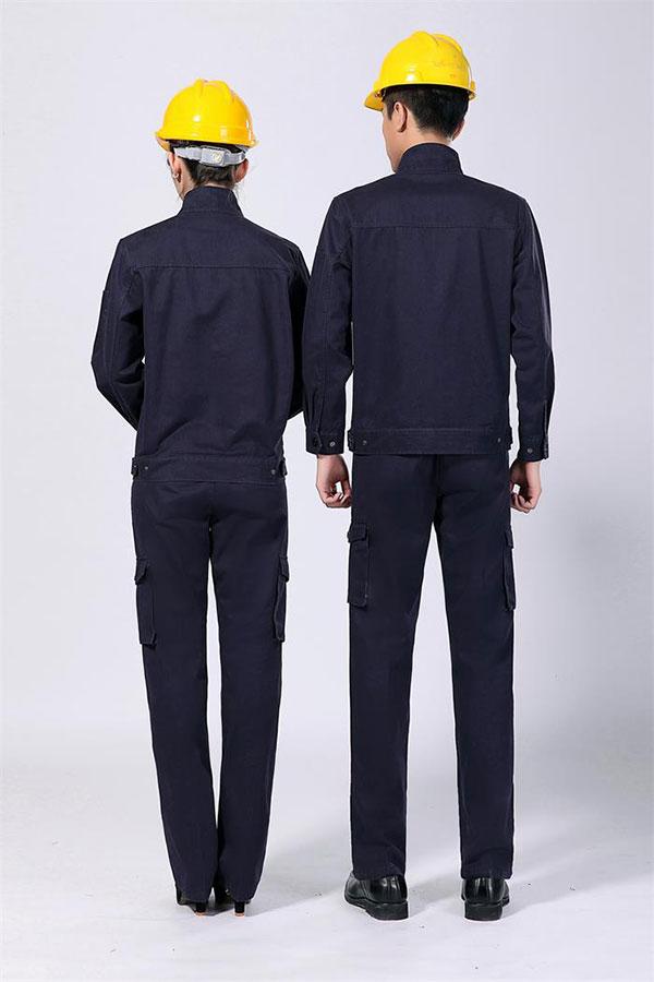 全棉磨毛水洗工作服夹克背面图片