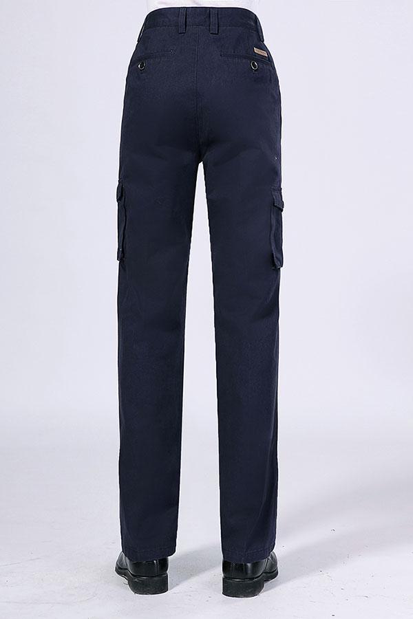 藏蓝色长袖工作服裤子