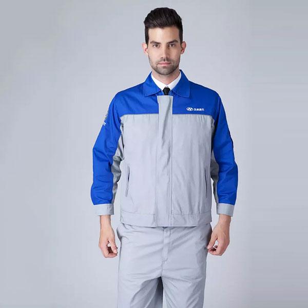 现代汽修工作服长袖工作服套装
