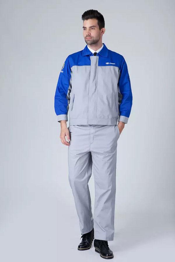 现代汽修长袖工作服套装
