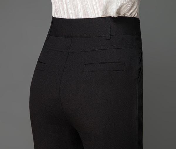 夏季天丝女裤职业正装显瘦小脚裤长裤细节图片