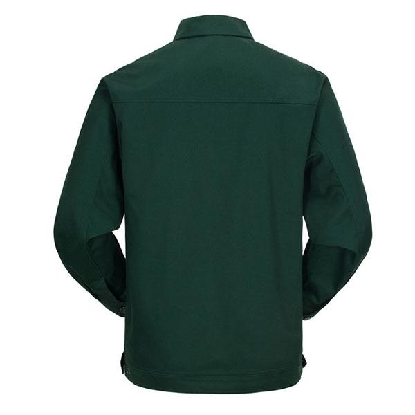 墨绿色涤棉车间工厂工作服背面图片