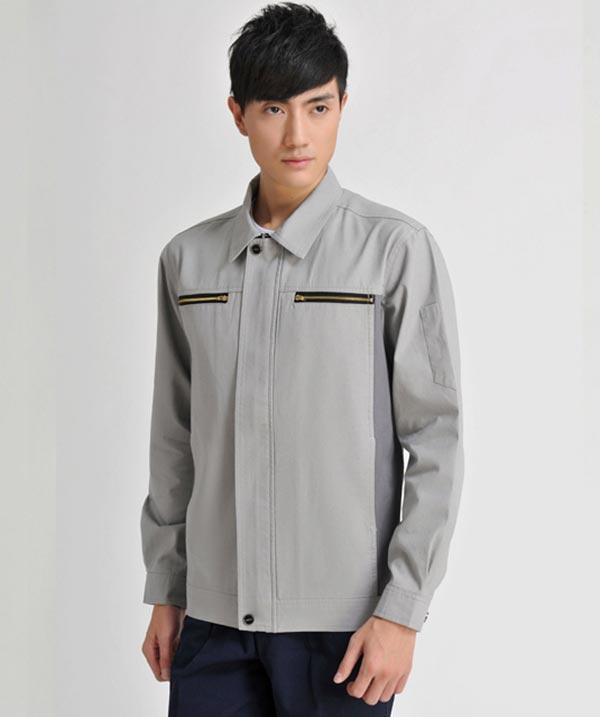 济宁秋季工作服定做男士时尚工装夹克