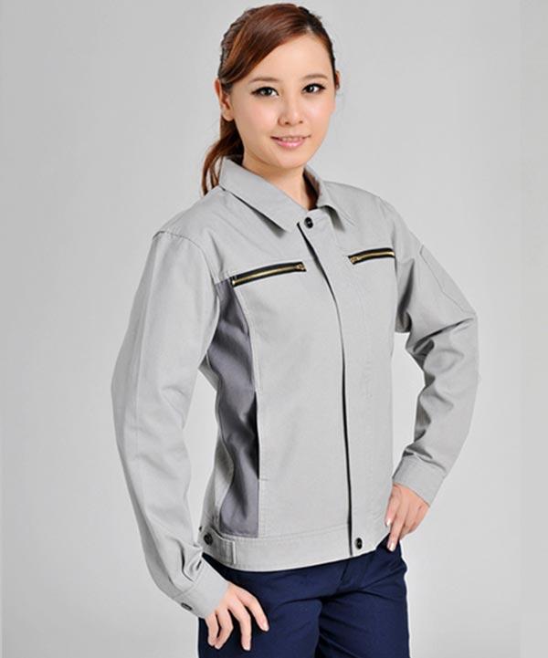 济宁秋季工作服定做女士时尚工装夹克