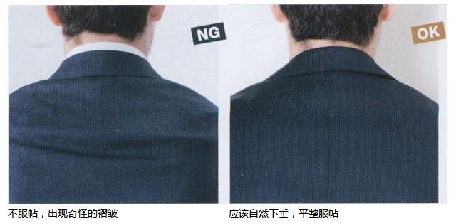 合身西服后背标准实际照片图示