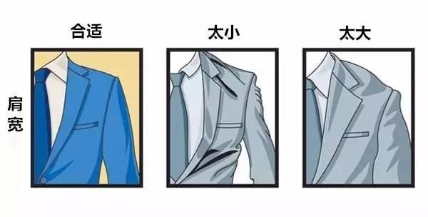 合身西服肩部标准图示