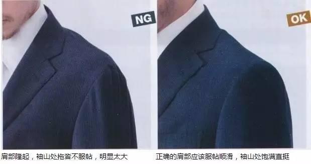 合身西服肩部标准实际照片图示