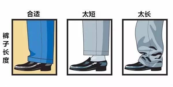 合身西裤长度标准图示