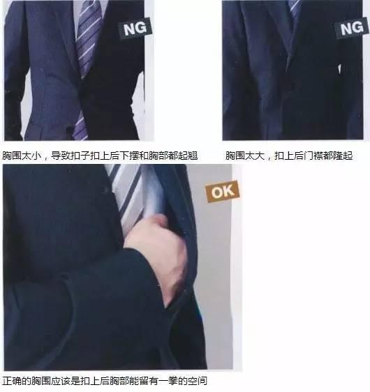 合身西服胸部标准实际照片图示