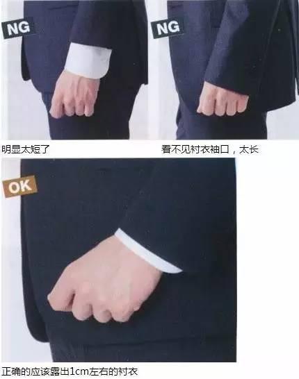合身西服袖长标准实际照片图示