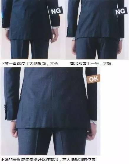 合身西服上衣衣长标准实际照片图示