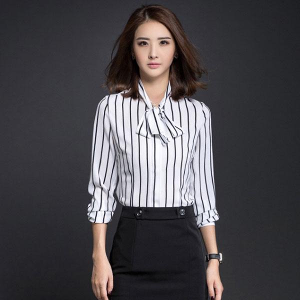 济宁职业衬衫订做经典条纹衬衣