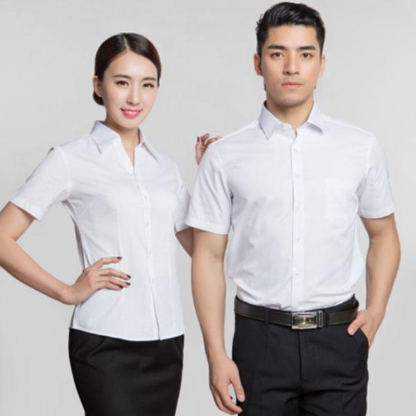 济宁夏季职业装定做男女款短袖衬衣