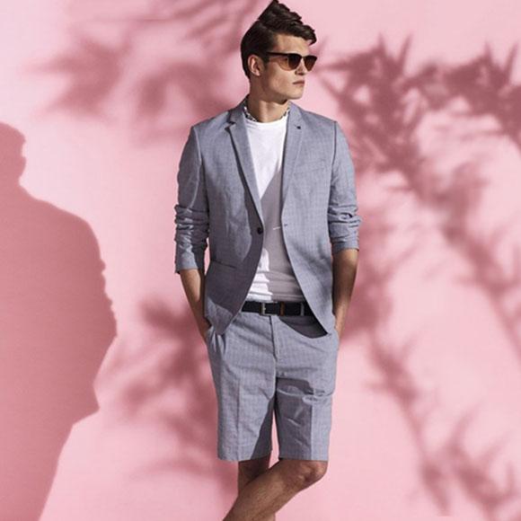 夏季西装短裤