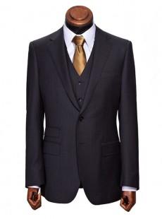 英伦职业装套装男士商务条纹西装