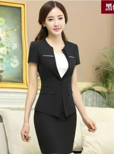 2015夏季短袖职业装女装套装套裙
