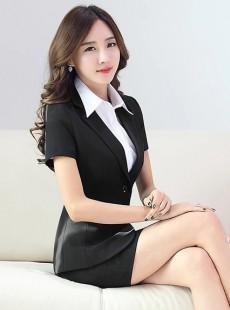 2015新款韩版夏季职业装套裙