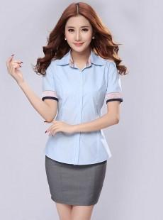 短袖衬衫职业套装夏天女士职业装