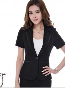 2015新款黑色西服套裙女士职业装