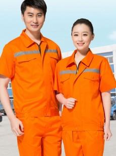 短袖户外反光条夏装环卫工作服