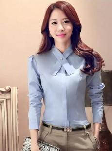 2016秋季上新职业装韩版修身长袖衬衫