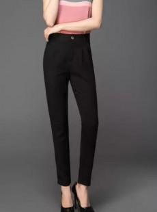 夏季天丝女裤职业正装显瘦小脚裤长裤