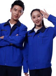 深蓝色全棉水洗工作服厂服