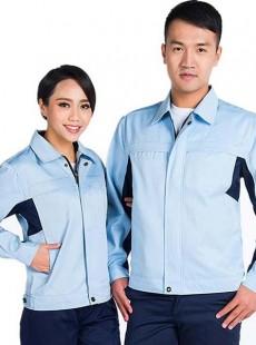 浅蓝色配藏蓝裤子防静电工作服套装