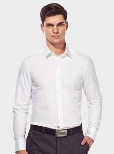 济宁纯棉衬衣定制男士商务修身长袖衬衫