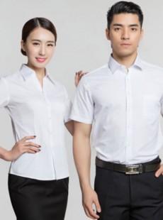 济宁夏季职业装定做男女短袖衬衣